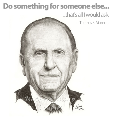 two weeks ago today aug 21 thomas s monson president